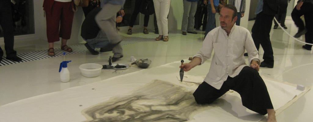 Tušové malby z Pekingu v podání Jiřího Straky v Galerii Kaple