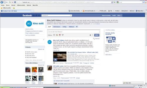 Na Facebook zamířil také M-klub a kino Svět